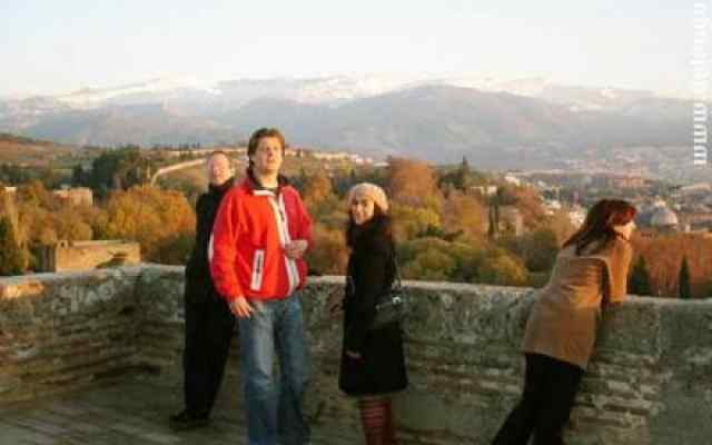 View on the Sierra Nevada from the Alhambra